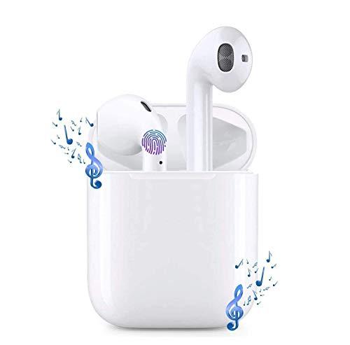 Bluetooth-Kopfhörer, Kabellose Kopfhörerr IPX5 wasserdichte, Noise-Cancelling-Kopfhörer, Geräuschisolierung,mit 24H Ladekästchen und Mikrofon für Android/iPhone/Samsung/AirPods Pro/AirPods