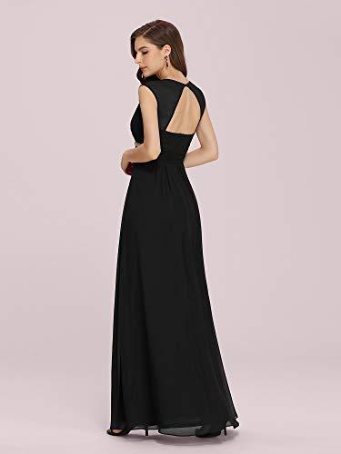 Ever-Pretty Womens Sleeveless V-Neck Empire Waist Long Evening Dress 14 US Black