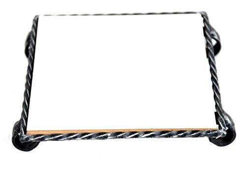 Lorenz Ferart 6289 Sottopentola, Ceramica, Nero, 16x16x4 cm