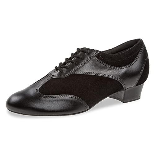Diamant Zapatos de baile para mujer 183-029-070-V – Piel de ante y piel negra – Normal – 2,8 cm bloque – Fabricado en Alemania, Negro , 38 EU