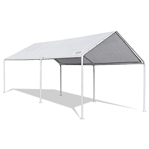 Quictent 20'X10' Heavy Duty Carport Car Canopy Party Wedding Tent with Waterproof, Upgraded Tear Resistance Cover