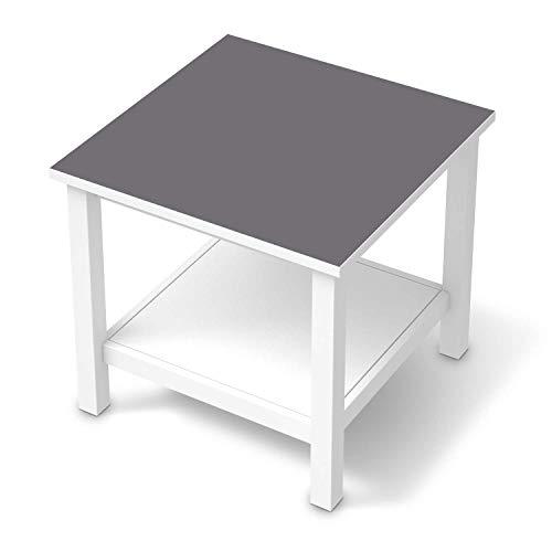 creatisto Möbel-Tattoo passend für IKEA Hemnes Beistelltisch 55x55 cm I Möbelsticker - Möbel-Sticker Aufkleber Folie I Innendekoration für Esszimmer, Wohnzimmer - Design: Grau Light