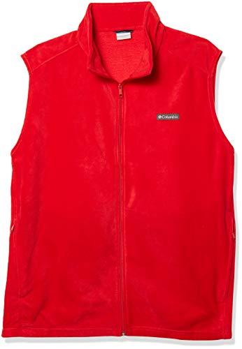Columbia Men's Big & Tall Steens Vest, Mountain Red, 5X Tall
