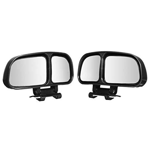 Ajustable 2pcs del Coche Universal Ampliar Gran Angular de Punto Ciego Espejos retrovisor (Color : Negro)