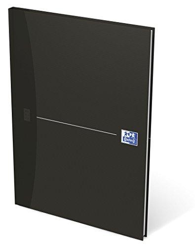 OXFORD 100105183 Gebundenes Buch Essentials A4 liniert 96 Blatt mit abtrennbaren Ecken schwarz Geschäftsbuch Tagebuch Kladde Journal Skizzenbuch