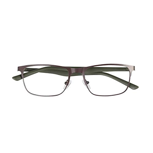 YGF121 BONOX ダルトン おしゃれ 老眼鏡 シニアグラ Reading Glasses (YGF120BRG BROWN_M.GREEN, 1.5)