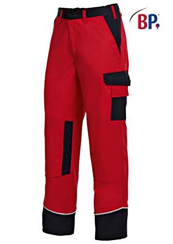 BP 1609-559-81-56l Arbeitshosen, mit Taschen, 245,00 g/m² Stoffmischung, rot/schwarz ,56l