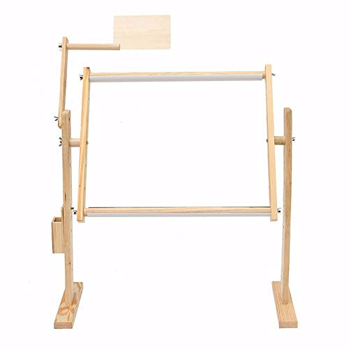 Adjustment Crossstitch Embroidery Floor Stand Solid Wooden Sewing Frames Tabletop Cross Stitch Embroidery Tapestry Hoops Needlework Table Lap Hands-Free Stand Holder Needlework Sewing Handmade Tools
