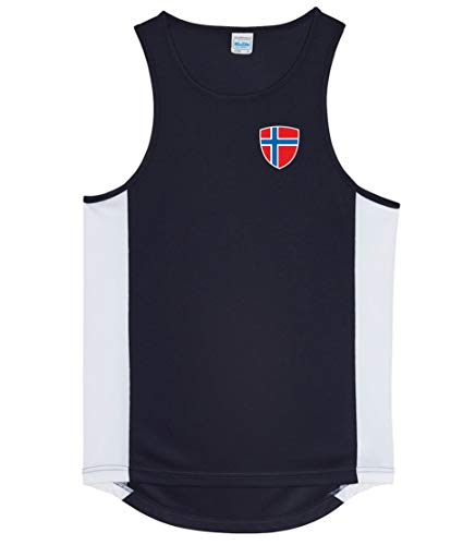 Nation Norwegen Trikot Tank Top Athletic Sport Gym ATH BR-SC (L)