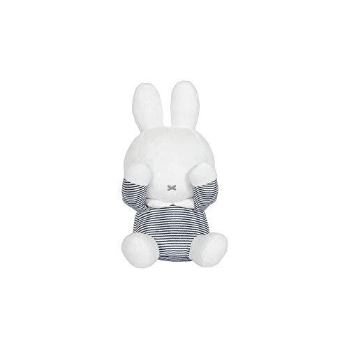 Tiamo NIJN551 Miffy Hase ABC Guck-Guck Stofftier Kuscheltier gestreift weiß grau 28 cm