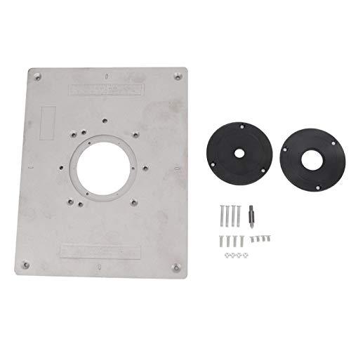 Herramienta de mesa de enrutador de aleación de aluminio, placa de inserción de mesa de enrutador, espaciado de orificios de 2.9X3.7 pulgadas para carpintería, banco de carpintería DIY