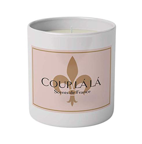 French Scented Soy Candles (Lavender & Herbs de Provence) 100% Natural Soy Wax, Premium Quality Hand Poured 8 oz. Reusable Rocks Tumbler, Slow Burning, Custom Blended Fragrances, Made in the USA