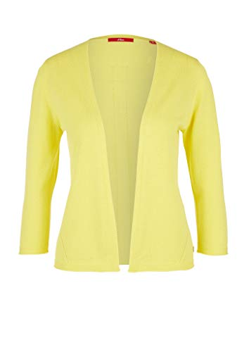 s.Oliver RED Label Damen Open Front-Cardigan mit 3/4-Arm Light Yellow 44