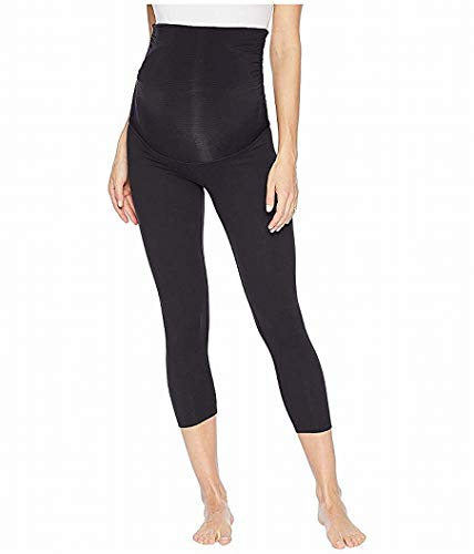 Beyond Yoga Fold Down Maternity Capri Leggings Jet Black SM (US 4-6)