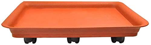 Pesado Antideslizante Anti resbalón Dolly Carro Carro de la Resina Mujer Mujer PEQUEÑA MOVIDUDA MOBLE MOBIDA Universal GARDIN DE Rueda Universal 70kg Capacidad (Color : Red, Size : 50x35cm)