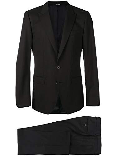 DOLCE E GABBANA Luxury Fashion Herren GK0RMTFU3N7N0000 Schwarz Seide Anzuge | Herbst Winter 19