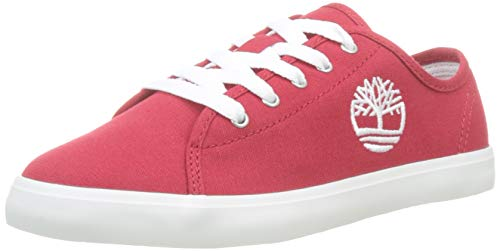 Timberland Newport bay Oxford (Youth), Sneakers Basse, Rosso Medium Red Canvas, 34 EU