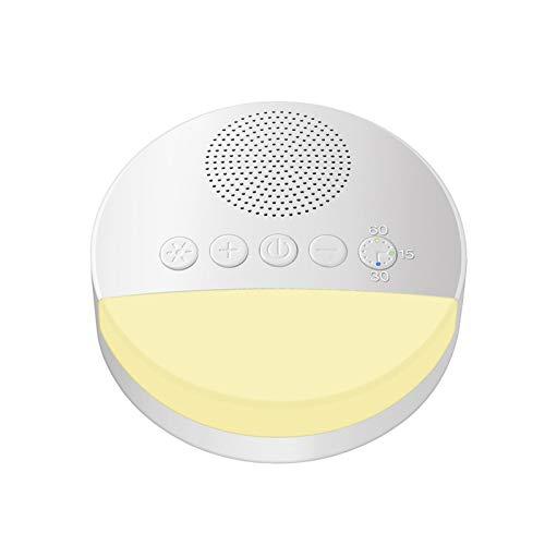 WUYANSE Máquina de ruido blanco,máquina de sonido para dormir con temporizador de luz nocturna y función de memoria para bebés, niños y adultos,terapia de 10 sonidos naturales, continuo o temporizador