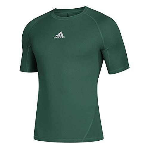 adidas Camiseta de Manga Corta Alphaskin Sport para Hombre, Hombre, Manga Corta, CZ0086, Verde Oscuro, Small-Tall