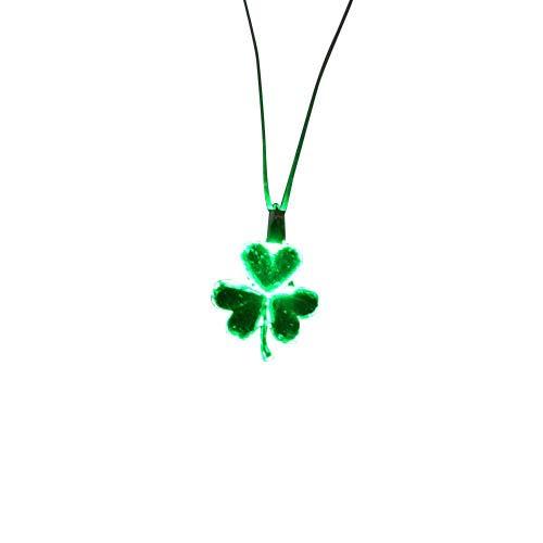 Light Up Shamrock Necklace #shamrock #stpatricksday