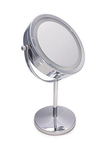 Airel Specchio per il Trucco | Aumenta Specchio | Doppia Faccia con Ingrandimento X1 X3 | Illuminato 2 in 1 | Specchio Cosmetico con Luce a Led | Rotazione Regolabile di 360 Gradi