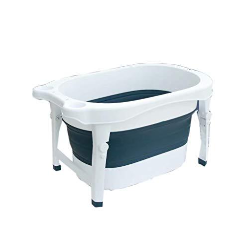 Folding bathtub Badewanne Faltbare Badewanne Haushalts Kindersitz Badewanne Schwimmbad Eimer,Farbe:Blau Größe:80X54X44Cm