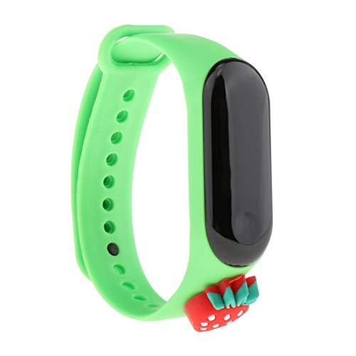 Hellery Niños Digital 50m-Reloj de Pulsera Impermeable Pantalla táctil LED Reloj de Pulsera de Silicona Actividad Deportiva - Verde