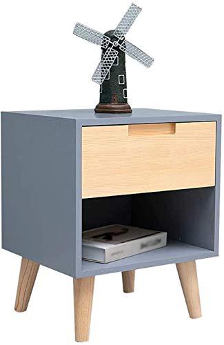 File cabinets Nachttisch, Nachttisch, Haushalt, Spind, Einzelpumpe, bodenstehend, Aufbewahrungsbox, Schlafzimmer, Arbeitszimmer, 40 x 35 x 49 cm, Beistelltisch (Farbe: Grau)