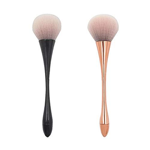 Großer Puderpinsel, Make-up-Pinsel, Puderpinsel, Rougepinsel für tägliches Make-up, 2 Stück