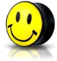 Piercing Boutique Ohrdehner Plug Acryl Smiley Flesh Tunnel Bahre Schmuck
