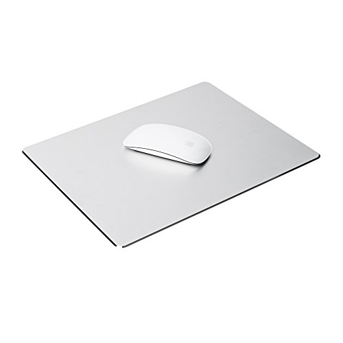 Thingy Club - Tappetino in alluminio per mouse per Apple MacBook Air, MacBook Pro e per tutti gli altri computer e notebook, Large