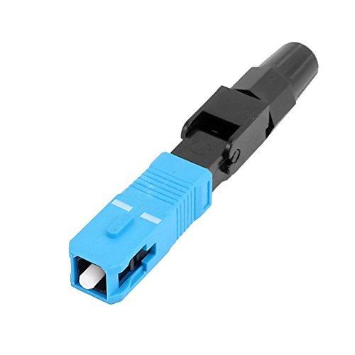 DealMux FTTH SC/SM Fibra UPC-P Optic Cable rápida Adapter Preto Azul Connector