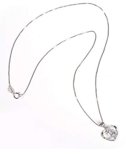 【Univarc ブランド 】 新品 純銀製 ハート ネックレス ジュエリークロス ポーチ バッグ 保証書 豪華5点セット! オープンハート U00069