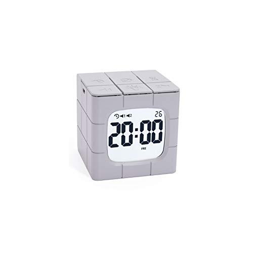 VIIN del Cubo de Rubik llevada Creativa Reloj Despertador, C