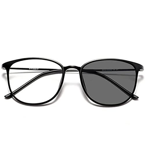 DDZHE Gafas de lectura fotocromáticas de transición Gafas de luz antiazul Gafas de sol multifoco progresivas con bisagras de resorte (+1,50)