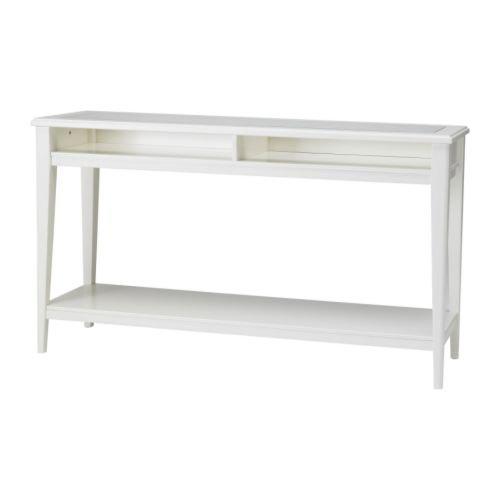 IKEA LIATORP–Konsolentisch, weiß, Glas–133x 37cm
