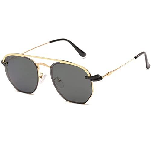 LSLY Gafas de Sol Uv400 Metal Retro Driver Gafas de Sol Clip Gafas de Sol polarizadas Hombres y Mujeres Personalidad Gafas Irregulares