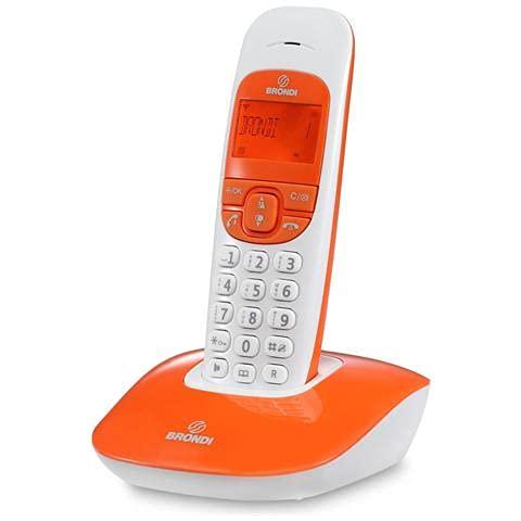 Brondi Nice Telefono Cordless, Arancio