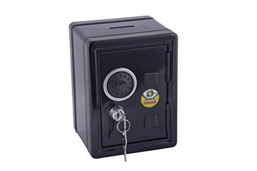 Jolly 9920–0005–Hucha, diseño caja fuerte en negro