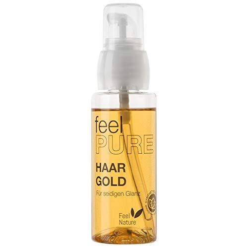 Feel Nature Haar Gold Sofort-Haarpflege Öl 50 ml Macht das Haar leichter kämmbar & verleiht faszinierend seidigen Glanz