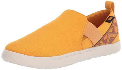 Teva Womens W VOYA Slip ON Loafer Flat, Cayambe Sunflower, 9 Medium US