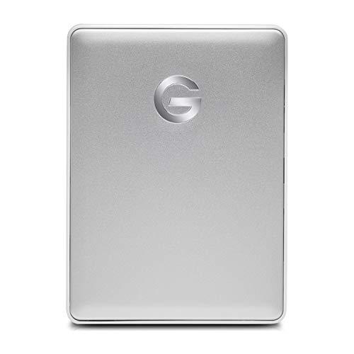 G-Technology HDD ポータブルハードディスク 1TB シルバー G-DRIVE Mobile USB-C 3年保証 0G10264