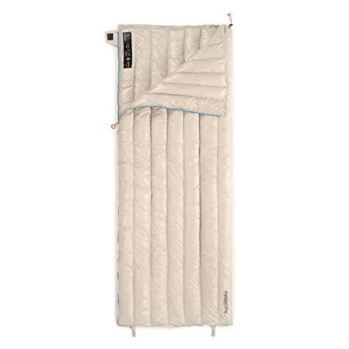 Naturehike Schlafsack Leicht Kompakte 800 Füllkraft Gänsedaunen Schlafsack Tragbarer Umschlag Schlafsack für Outdoor Camping Wandern (Khaki-L)