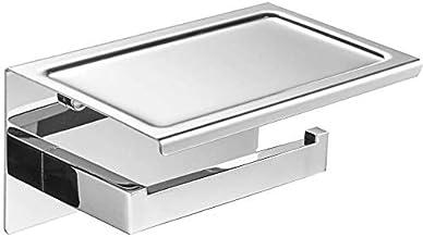 WHLONG toiletrolhouder roestvrij staal toiletrolhouder badkamer toiletpapier dispenser thuis muurbevestiging gouden (kleu...