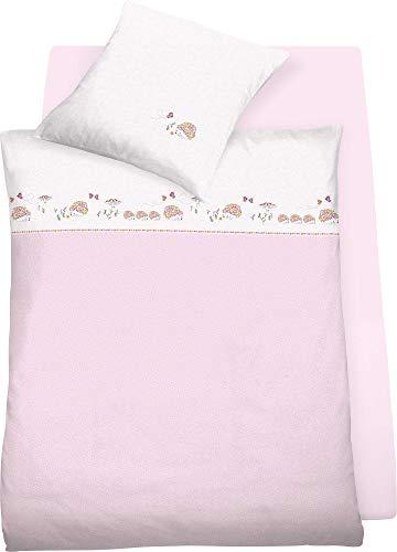 schlafgut Bio Kinder-Bettwäsche Hedwig Single-Jersey rosa Größe 135x200 cm (80x80 cm)