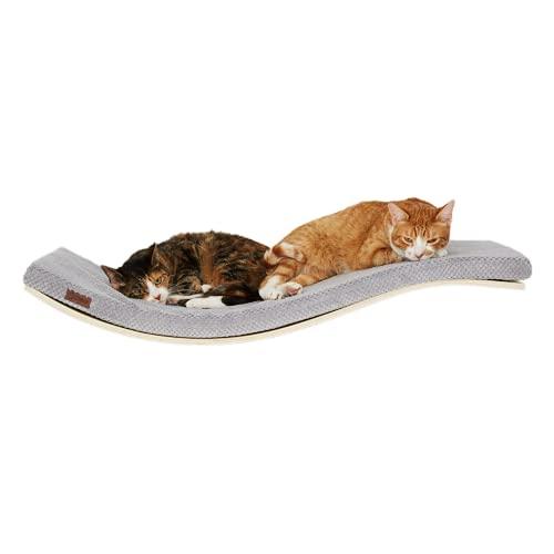 COSY AND DOZY | Katzen Wand Klettern | Katze Wandliege Katzenliege | Katzenbett | Katzen Wand Klettern Katzen | 90 cm x 41 cm | Ahorn Holz