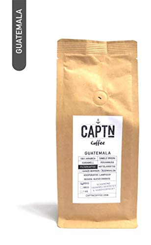 Guatemala Kaffee Gemahlen | 100 % Arabica Single Origin | 250 G | Direkt Gehandelt | Schonend Trommelgeröstet | Handverpackt | Filterkaffee | Premium Qualität | Ideal als Geschenk