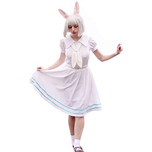 NSPSTT Frauen Mädchen Haru Cosplay Kostüm Japanische Anime Cosplay Kostüm Schuluniform Kleid (White, S)