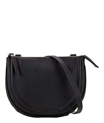 Liebeskind Berlin Damen Round Love Note-Crossbody Small Umhängetasche, Schwarz (Black), 3x12x18 cm