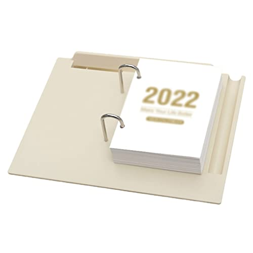 LUYTW Calendar 2022 Small Desk calendar,10.2″x7.9″,Mini Small Desktop Calendar with Pen Holder and Pen,Loose-leaf for office and home planners (Color : B)